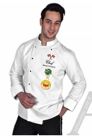 - BIG CHEF AŞÇI CEKETİ BEYAZ Aşçı ceketinize isminizi ÜCRETSİZ yazdırın!!!