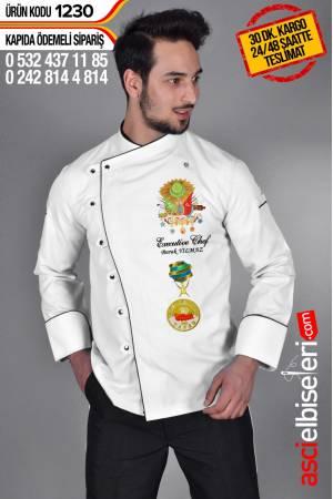 ; OTTOMAN CHEF AŞÇI CEKETİ İsminizin aşçı ceketinize yazılması ÜCRETSİZ