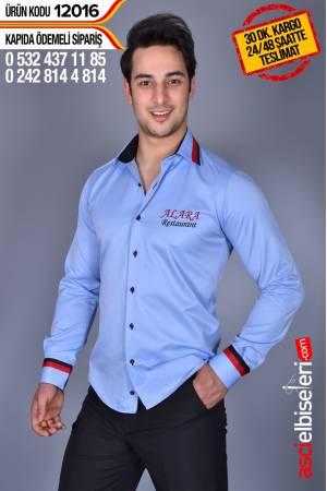 12016- Garson Gomlekleri Gömleğin sol göğüsüne firma adını nakış ile yazmak ÜCRETSİZ