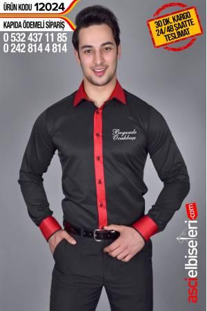 12024- GARSON GÖMLEĞİ SİYAH Gömlek sol göğüsüne firma adının nakış ile yazılması HEDİYE